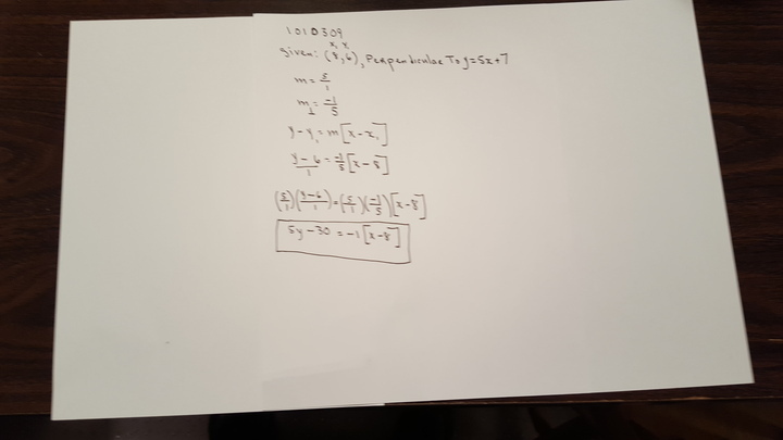 Solution Determine A Point Slope Form Of The Equation Of The Line