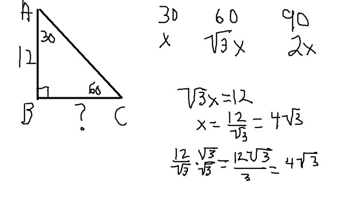 Solution in a triangle abc angle a30angle b90 and ab is 12 cm solution in a triangle abc angle a30angle b90 and ab is 12 cmfind the length of bc ccuart Gallery