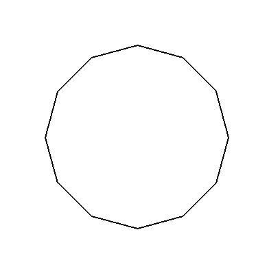 how to draw 12 sided polygon