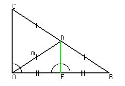 Lesson median drawn to the hypotenuse of a right triangle figure 2 to the proof of the theorem 1 ccuart Image collections