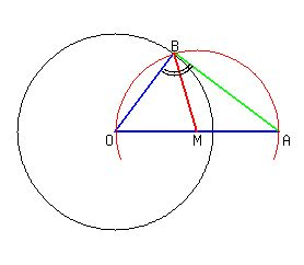 Lesson HOW TO construct a tangent line to a circle passing