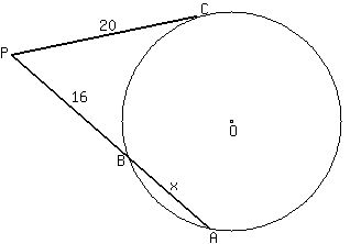 Lesson Solved problems on a tangent and a secant lines
