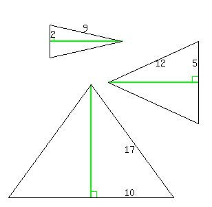 SOLUTION: EAch of the two congruent sides of an isosceles