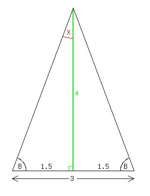 how to find the missing base of a triangle