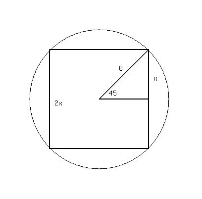 how to find surface arer of a circle