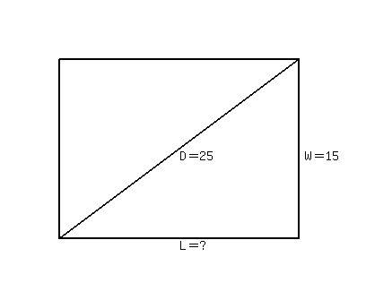 Diagonal Of A Rectangle
