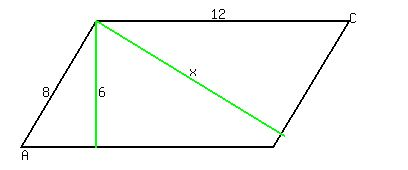 SOLUTION A Parallelogram Has Sides And The Shorter Altitude - Altitudes