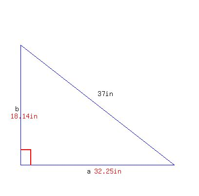 how to find the height of a right triangle