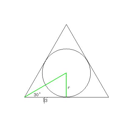 how to find area of a equilateral triangle with sides