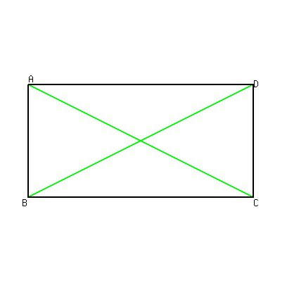 SOLUTION: ABCD is a rectangle. find the length of BD, if