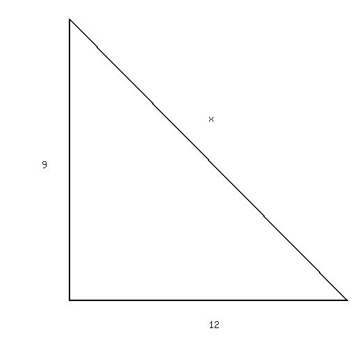 how to solve a right triangle given one side