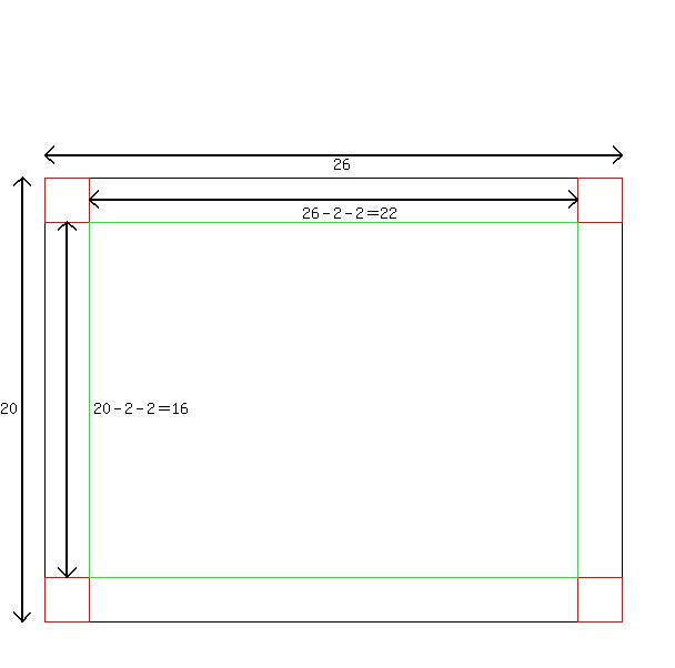 Solution a rectangular peice of sheet metal measures 26 in by 20 solution a rectangular peice of sheet metal measures 26 in by 20 in a square measuring 2 in by 2 in is cut out of each corner and the sides are folded pronofoot35fo Images