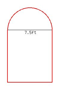 Solution a norman window has the shape of a rectangle - What does 500 square feet look like ...