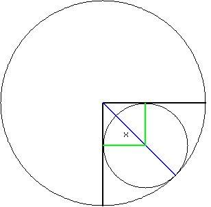 SOLUTION: Circle P has radius 10 cm. Two perpendicular
