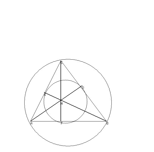 SOLUTION: Consider a nine point circle(Feuerbach's circle